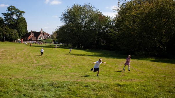 children lawn running