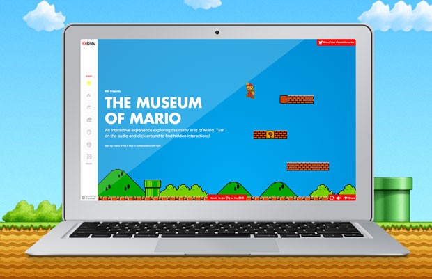History of Mario Museum from Deloitte Digital